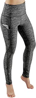 Women's Gym Leggings with Pockets Yoga Pants Cutout Workout Running Power Skinny Gym Capri Tights Trousers