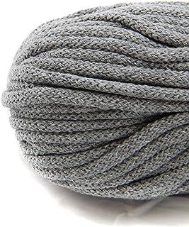 NTS Nähtechnik 50m Baumwollkordel mit Kern 6mm breit grau