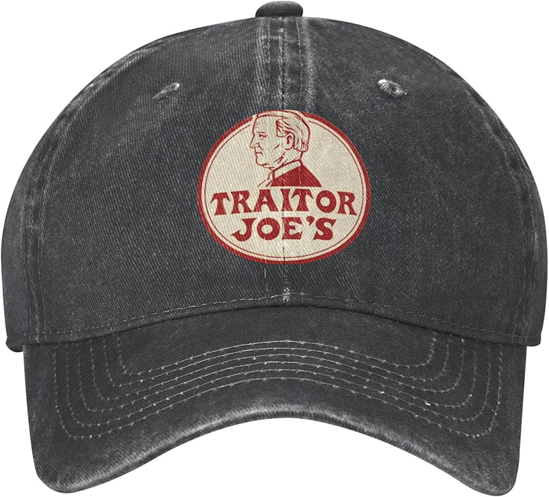 Traitor Joe's Fu46 Biden Trump Funny Hat Baseball Cap Dad&Mom Caps Trucker Hats Adjustable Unisex Cap Low Profile Comfortable Material Black