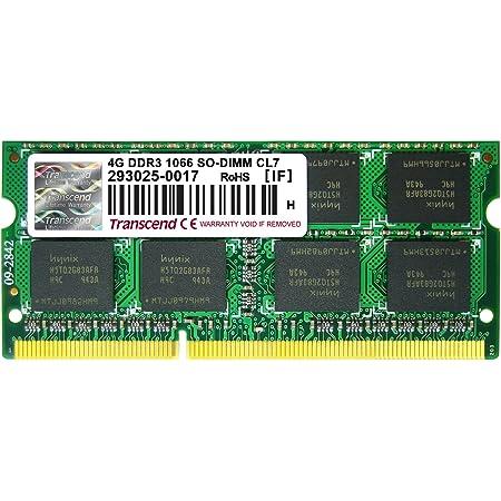 Transcend ノートPC用メモリ PC3-8500 DDR3 1066 4GB 1.5V 204pin SO-DIMM TS512MSK64V1N