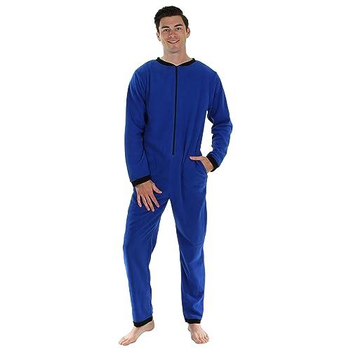 62f7f13067b Sleepyheads Men s Sleepwear Fleece Non Footed Color Onesie Pyjamas Jumpsuit