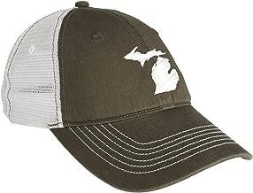 UGP Campus Apparel USA State Outline Hat - State Pride, Mesh Back Cap
