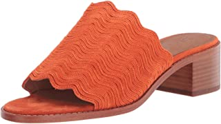 Frye Women's Cindy Wave Mule Heeled Sandal, Tangerine, 8 M US