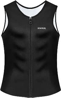 Kimikal Waist Trainer Vest for Men Weight Loss-Sweat Neoprene Corset Slimming Belt Body Shaper Zipper Sauna Suits Tank Top Trimmer Support Workout Shirt