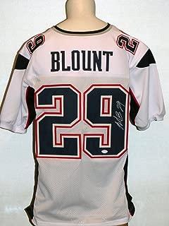 LeGarrette Blount Autographed Signed Patriots White Jersey JSA