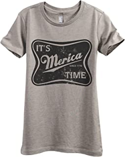 It's Merica Time Women's Fashion Relaxed T-Shirt Tee