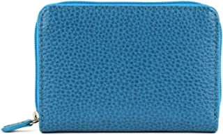 Laurige France Small Women's Leather Wallet Turquoise