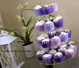 All About Details Purple Ombre Fifteen Cupcake Wrappers Kit, 32pcs