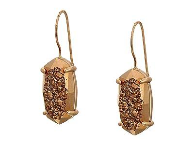 Kendra Scott Harrison Drop Earrings (Rose Gold/Rose Gold Drusy) Earring