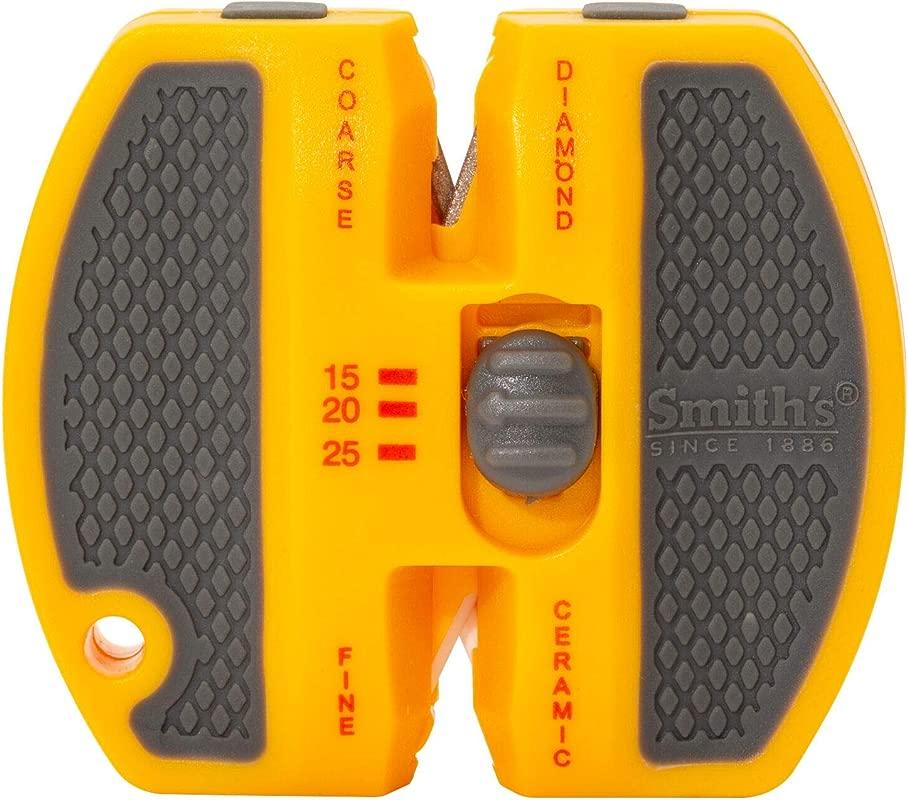 Smith S 50917 2 Step Adjustable Knife Sharpener Yellow