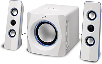 iLive Portable Wireless Speaker System with Built-In Subwoofer, 7.28 x 8.86 x 7.28 Inches, White (iHB23W)