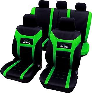 WOLTU AS7259gn Universal Schonbezüge für Auto Sitzbezug Sitzschoner Autositzbezug, Super Speed, Schwarz Grün