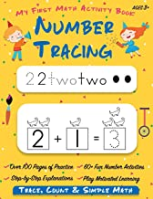 Number Tracing | My First Math Activity Book: Learn to Trace, Count, Add and Subtract Numbers 1-20 | Preschool and Kindergarten Workbook | Learning to ... Tracing Paper) (Math Activity Lesson Plan)