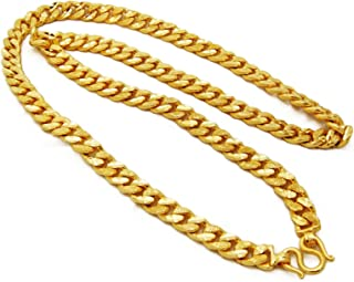 Men's Deluxe Chain Heavy 24k Thai Baht Gold Gp Necklace 29 inch 10 MM