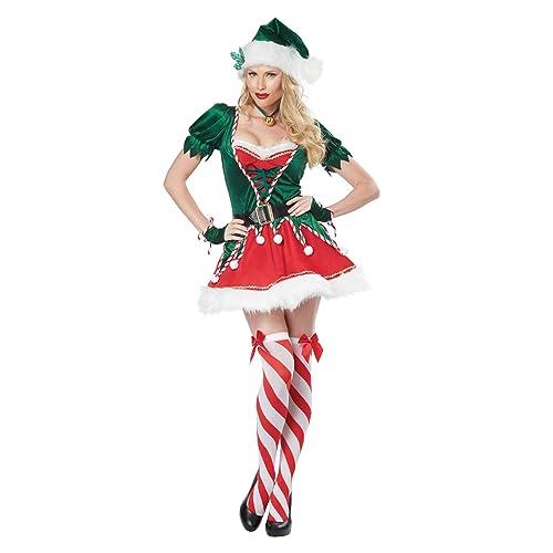 Santa/'s Shelf Helper Elf on the Adult Womens Costume NEW Christmas
