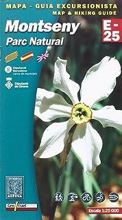 Montseny, mapa excursionista. Escala 1:25.000. Español, Català, English. Editorial Alpina. (ALPINA 25 - 1/25.000)