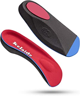 Plantar Fasciitis Arch Support Insoles 3/4 Orthotics Inserts Relieve Flat Feet, High Arch, Heel Spur, Foot Pain (Men9-11 |...