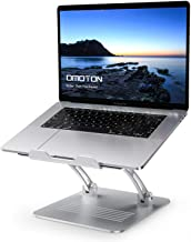 Laptop Stand Adjustable, OMOTON Ergonomic Aluminum Computer Holder with Cooling Function and Laptop Riser Clamp for USB-C Hub, Compatible with MacBook Pro/Air, All Laptops of 11-17.3