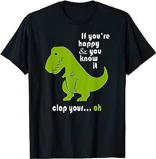 t rex shirt clap your hands