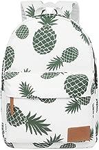 FITMYFAVO Backpack for Teen Girls Women with Multi-Pockets Cute Bookbag Daypack Travel Bag (Pineapple)
