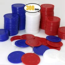 GiftExpress Lot of 300, Plastic Poker Chips for Kids Game Play, Learning Math Counting,..