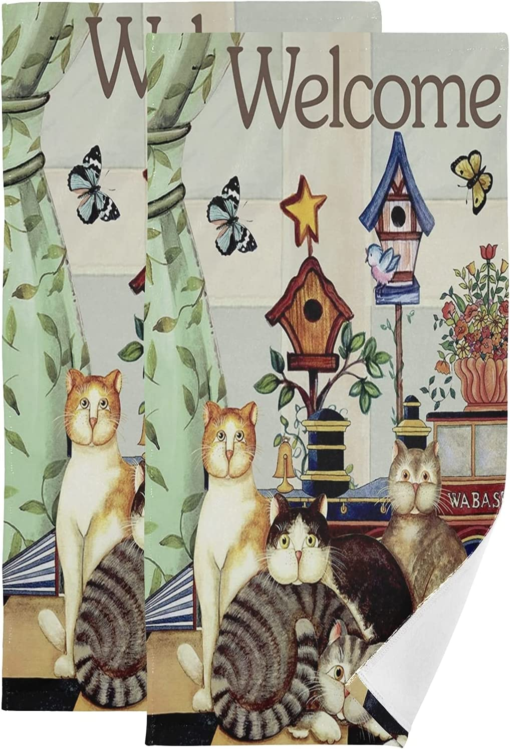 67% OFF of fixed price ALAZA Cute Cats Sweet Home Towels Soft Decorative Hand Special price for a limited time Absorbent