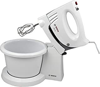 Bosch Hand Mixer With Bowl, Two Stainless Steel Turbo Whisks, 350 Watts - MFQ3555GB (White)