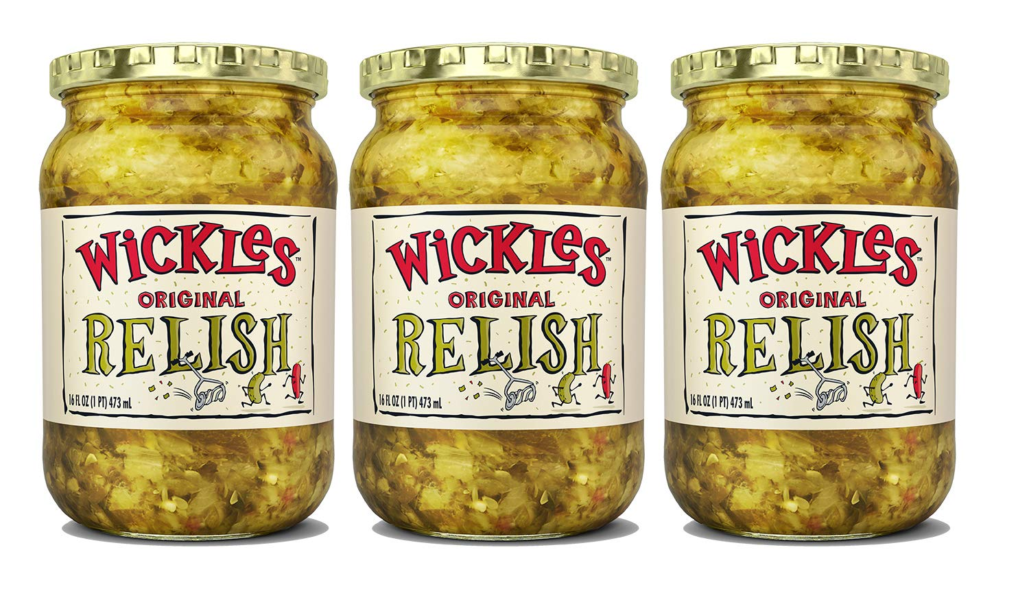 Wickles Original Relish 16 Fl Max 45% OFF Pack of Same day shipping Oz 3