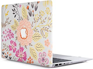 MacBook Pro 13 ケース 2017 & 2016 - L2W 2 in 1 (Model: A1706 and A1708) Flowers Series Pattern Plastic Hard Shell ケース Cover F...