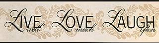 Live Love Laugh Wallpaper Border Beige Black Classic Retro Design BH10-089 York Wallcovering 15' x 6.75