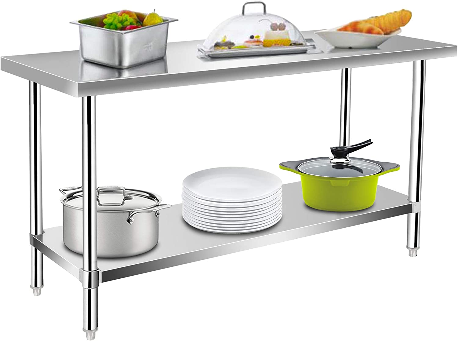 Commercial Kitchen Prep Work Table Beauty products KITMA Steel Food Stainless Selling rankings