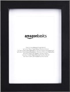 AmazonBasics – Marco para fotos con paspartú, 13 x 18cm con paspartú de 10 x 15cm, Negro, pack de 2uds.