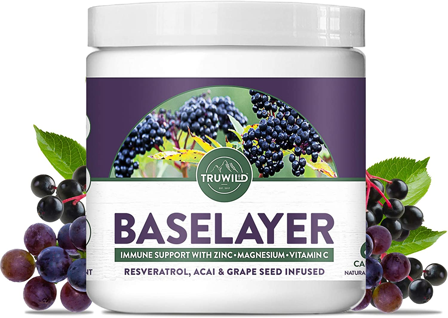 TRUWILD Baselayer Immune Support Supplement with Max 83% OFF Oakland Mall Antioxidant