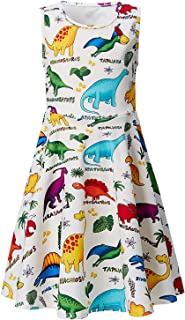 Goodstoworld Girls Sleeveless Summer Casual Swing Dresses Mermaid Unicorn Dress School Party Beach Sundresses 4-13 Years