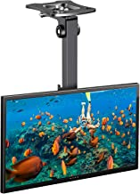 PERLESMITH Adjustable Ceiling TV Wall Mount - Swivel Tilting Bracket fits 17-39 Inch LCD LED Plasma TVs, Monitor, Flat Panel Screen Display - Full Motion Roof Mount Holds up 44lbs with VESA 200 x 200