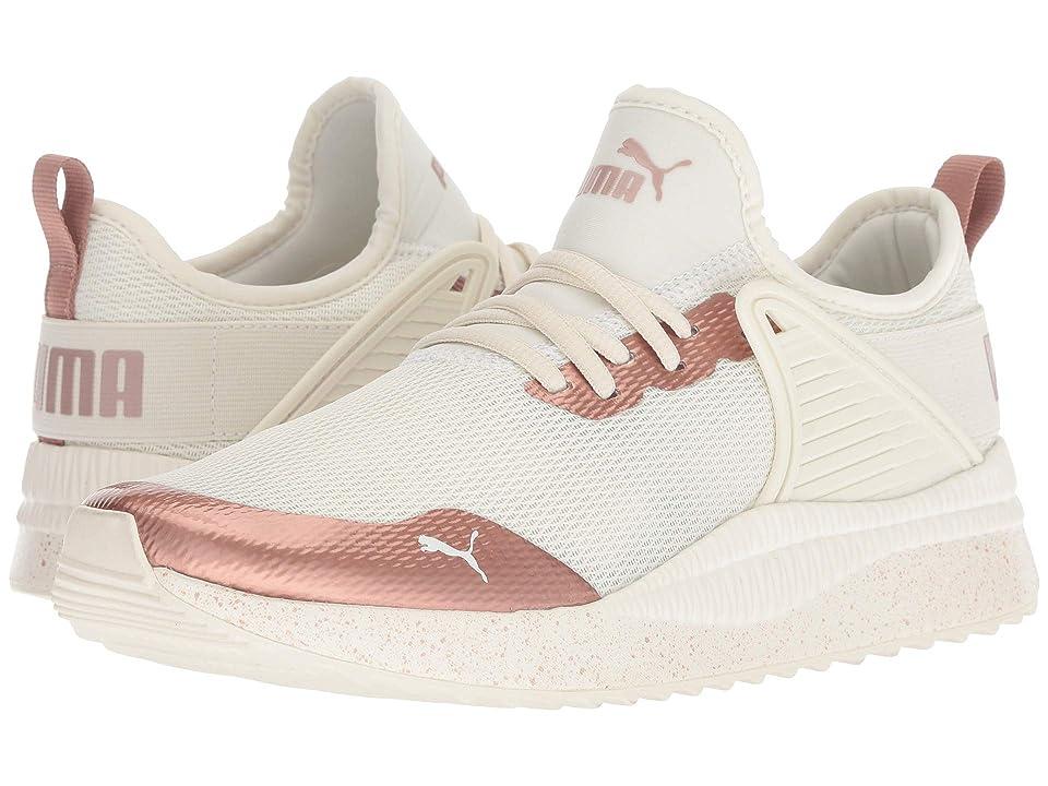 Puma Kids Pacer Next Cage MetSpeckle Jr (Big Kid) (Whisper White/Rose Gold) Girls Shoes
