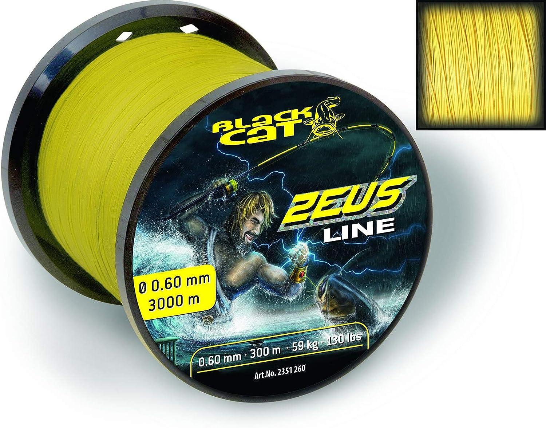 schwarz Cat Zeus Line gelb 3000 m 0,60 mm 59 kg 130 lbs