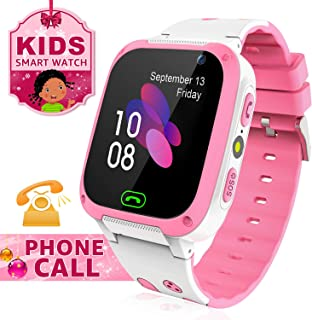 Kids Smart Watch for Call Voice Chat Text Telephone HD Touch Screen Watch for Kids with Alarm Clock Flashlight Camera SOS Games Phonebook Group Chat for iOS and Android System Gift for Kids