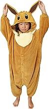 SAZAC Kigurumi - Pokemon - Eevee - Onesie Jumpsuit Halloween Costume - Kids Size (5-9 Year Old) Brown