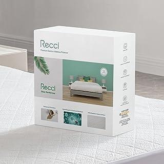 RECCI Protège Matelas 140x190/200 cm - 100% Fibre de Bambou, Ultra Doux, Hautement Respirant, Hypoallergénique, Silencieu...