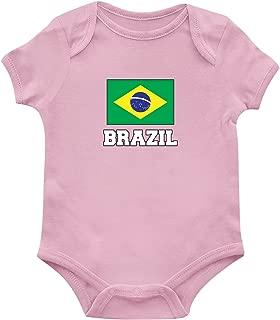 SpiritForged Apparel Brazil Flag Infant Bodysuit