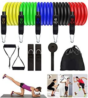 Home Workouts Pilates RLdaffodil Resistance Bands Set 11pcs Workout Bands Exercise Band for Resistance Training Physical Therapy Yoga