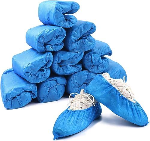 Home Care Wholesale Couvre-Chaussures, 100 Pièces Couvre-Chaussures en Plastique Épaissi Jetables, Couvre-Chaussures ...