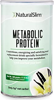 "NaturalSlim Meal Replacement Whey Protein Shakes, Natural Aid for a ""Slow Metabolism"" with Ingredients to Suppress Appetite and Start of Your Day Burning Fat- Great Taste and Very Filling (Vanilla)"