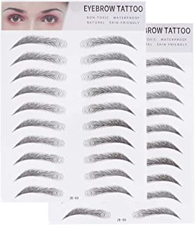 FRCOLOR 2Pcs 3D Eyebrow Transfers Sticker Tattoos Long Lasting Hair-Like Authentic Eyebrows Shaper Brow Makeup Grooming Sh...