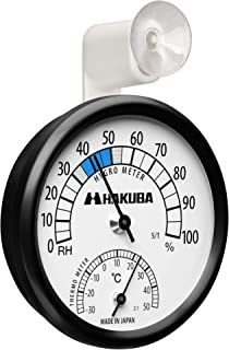 HAKUBA カメラ保管用 アナログ温湿度計 C-82 外から確認しやすいアーム型吸盤付き KMC-82