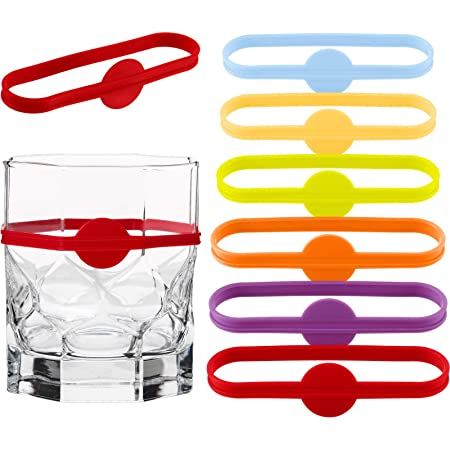 Amazon Com Boomyou Drink Markers Beer Glass Cup Vino Wine Cocktail Glass Bottle Strip Tag Marker Party Solution For Guests 12 Pack Glass Markers Charms