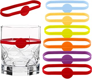 Sponsored Ad - 24 Pieces Drink Markers, Glass Cup Wine Glass Bottle Strip Tag Marker, Cocktail Glass Party Solution for Gu...