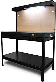 WEN WB4723 48-Inch Workbench with Power Outlets and Light