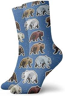 Jhonangel, Equipo de calcetines de osos polares y marrones para hombres, mujeres, niños, trekking, rendimiento, exteriores 30 cm